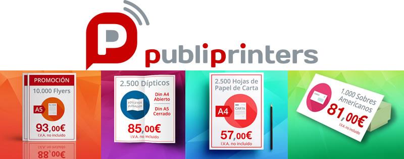 Ya puedes imprimir flyers baratos, dípticos, papel para cartas o sobres a los mejores precios. Son las ofertas de impresión de Publiprinters de septiembre!