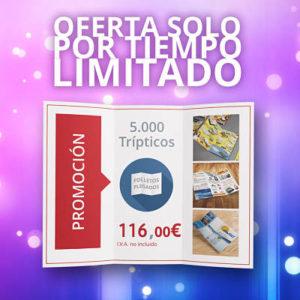 Rebajas de impresión: 5000 trípticos por 116€