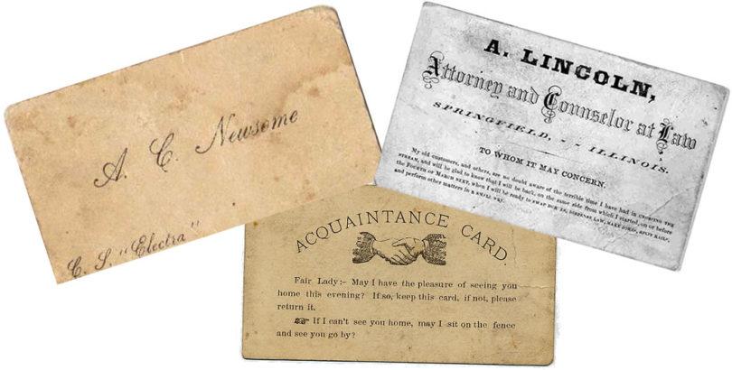Historia de la tarjeta de visita