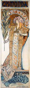 Imprimir carteles publicitarios. Gismonda.Alfons_Mucha.1894Alphonse Mucha [Public domain], via Wikimedia Commons