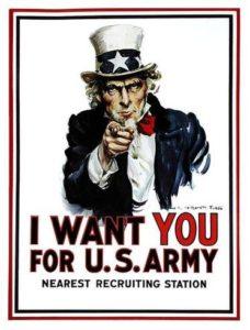 EEUU utilizó flyers para captar reclutas durante la II Guerra Mundial