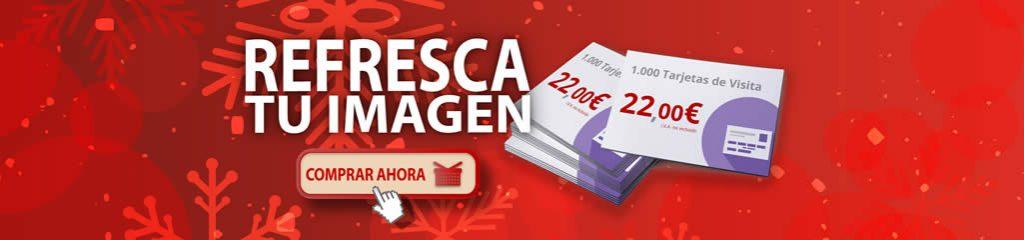 Imprimir barato en Navidad: tarjetas de visita.