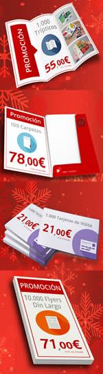 Imprimir barato en diciembre con Publiprinters tus flyers, tarjetas de visita, trípticos, dípticos...