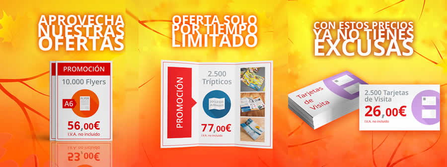 Imprimir barato flyers, folletos y tarjetas de visita en Publiprinters
