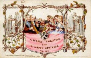 Una de las primeras tarjetas navideñas